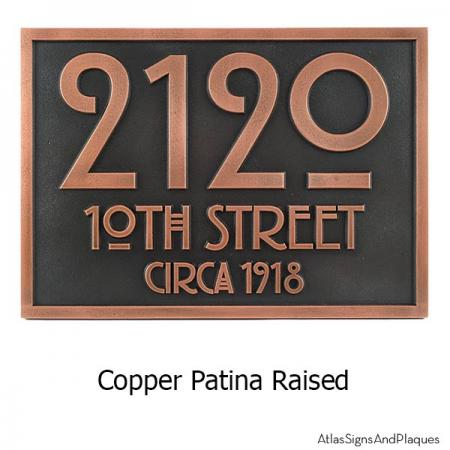 Stickley Address Plaque - Copper