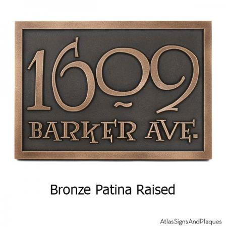 Lumos Address Plaque - Bronze