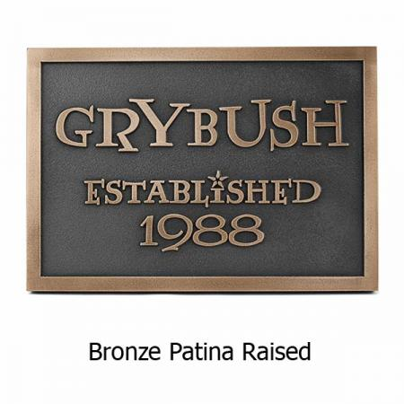 Modern Wedding Plaque Lumos - Bronze