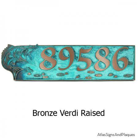 Bass Address Plaque - Bronze Verdi