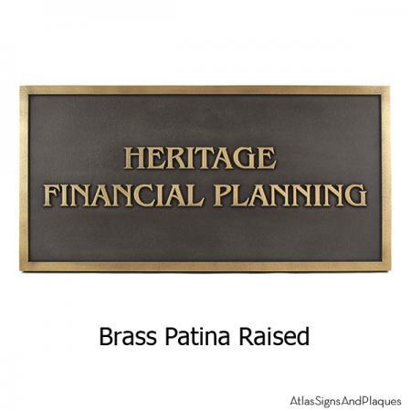 Benguiat Business Plaque - Brass