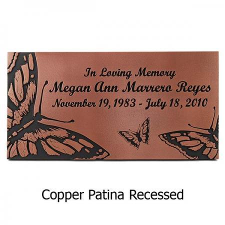 Butterfly Memorial Plaque - Copper
