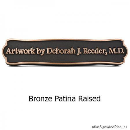 Fancy Frame Name Plaque - Bronze