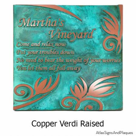 Flowered Memorial - Copper Verdi