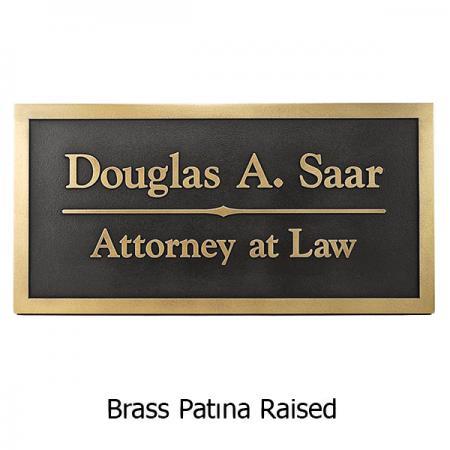 Brass Goudy Business Plaque