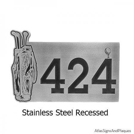 Recessed Golf Address Plaque