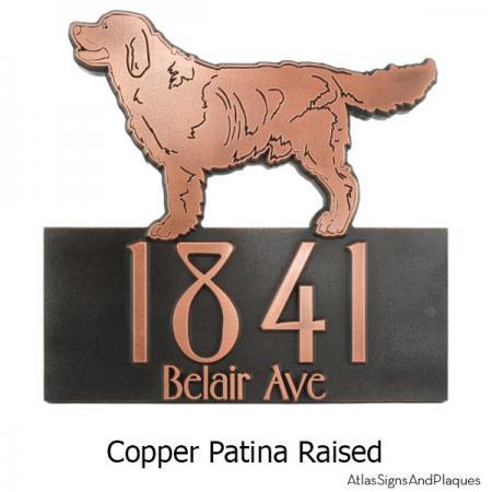 Dog Shaped Custom Canine Sign - Copper Retriever