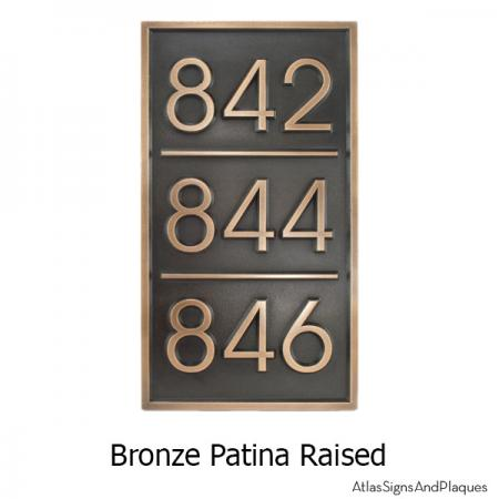 Multiple Advantage Multi-Address Plaque - Bronze