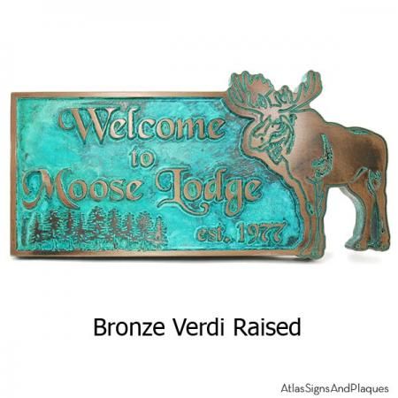 Moose Lodge Welcome Plaque - Bronze Verdi
