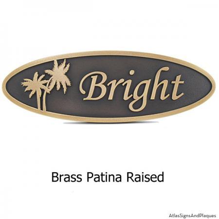 Palm Tree Plaque - Brass