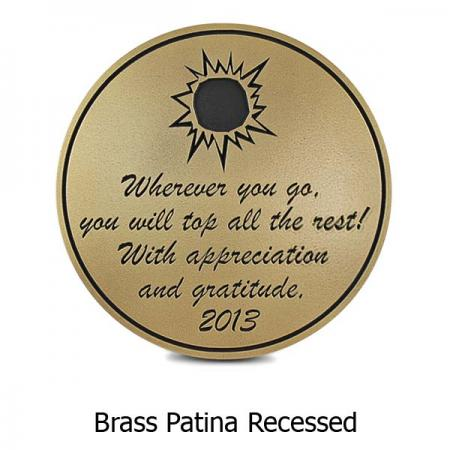 Round Memorial Plaque - Brass
