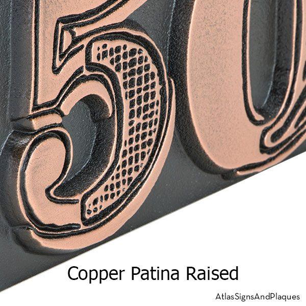 Mish Mash raised copper patina