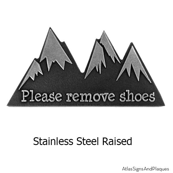 Stainless Steel Mini Snow Capped Mountains Sign