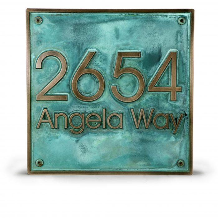 Modern Advantage Address Plaque Detail