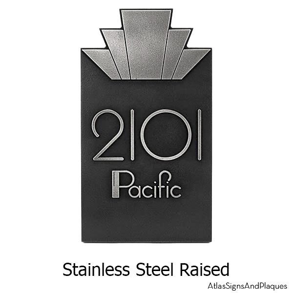 Raised Moderne Art Deco Plaque