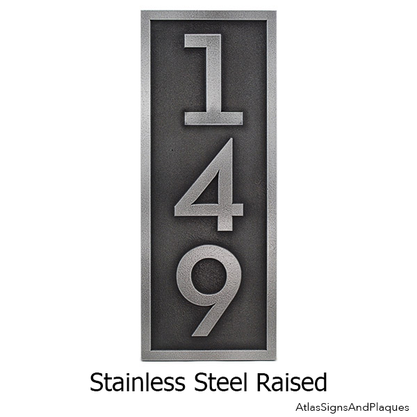 Satinless Steel Plaque for Home