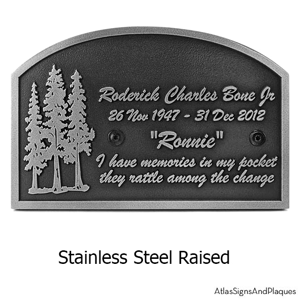 Stainless Steel Pine Tree Memorial