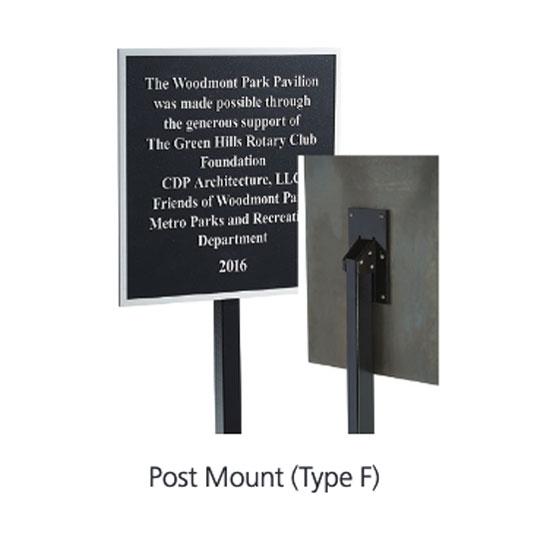 Post Mount 6'x1″ post (+$150)