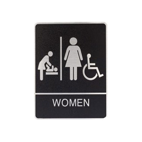 Restroom Sign Women with Changing Table