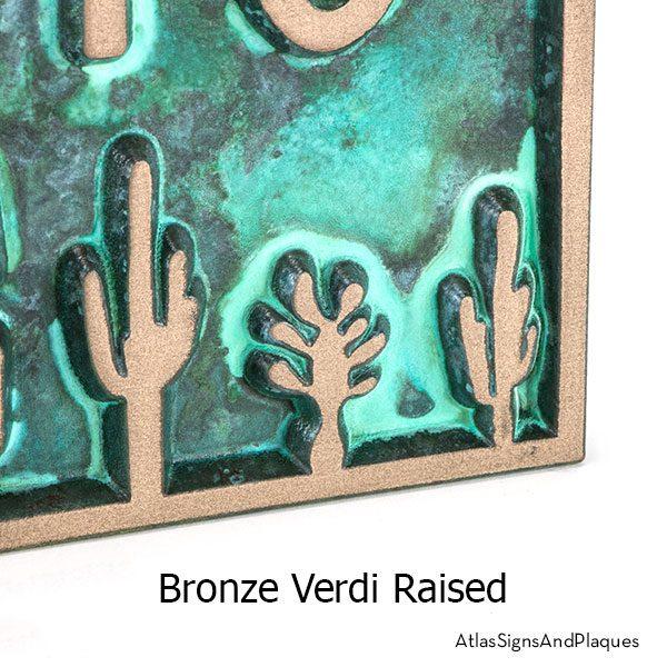 Sonoran Desert Address Plaque showcasing the Sonoran Desert