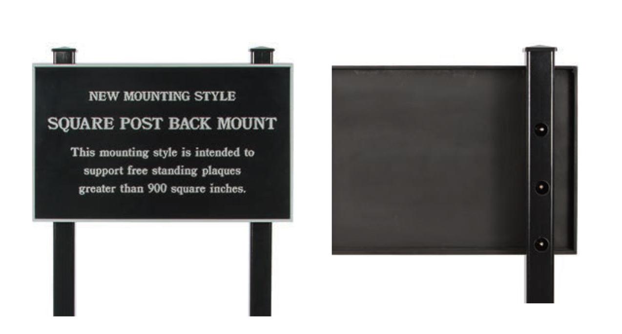 Square Post Back Mount
