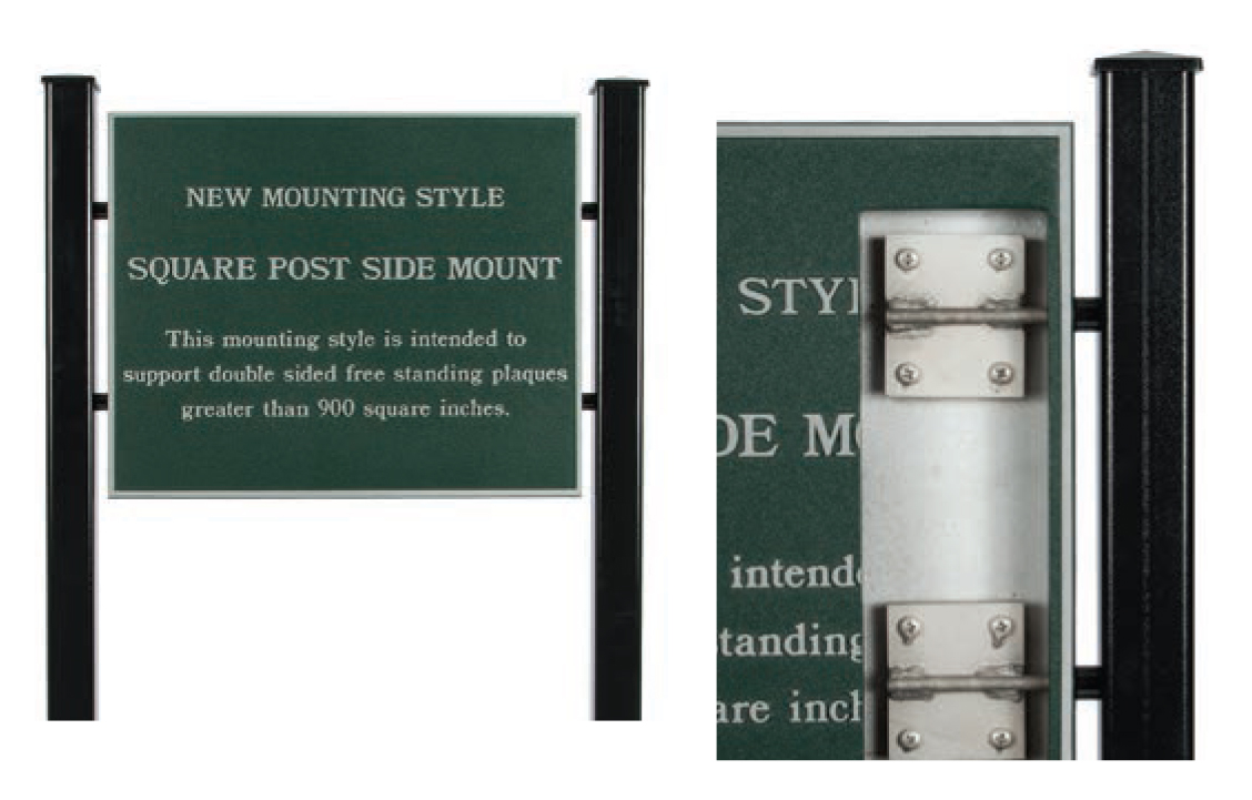 Square Post Side Mount