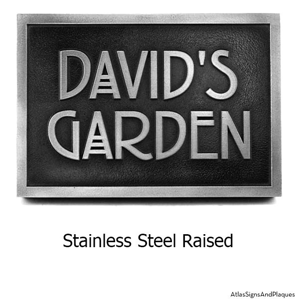 Stainless Steel Stickley Phrase Plaque