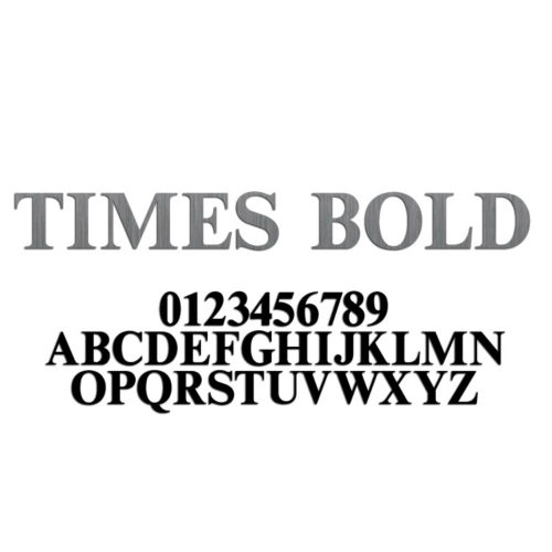Times Bold Font Metal Letters & Numbers