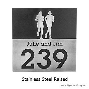 Stainless Steel Trail Runners Address Plaque