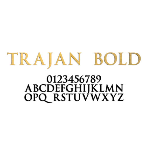Trajan Bold Font Metal Letters & Numbers