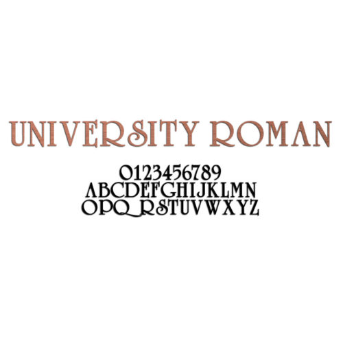 University Roman Font Metal Letters & Numbers