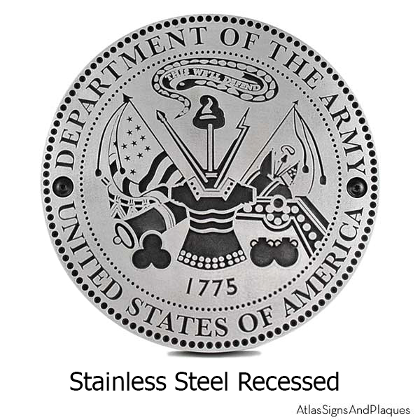 Stainless Steel US Army Plaque
