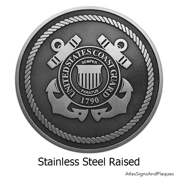 Stainless Steel Military Service Plaques – Set Of 5 Branches