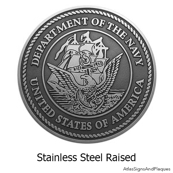 Stainless Steel US Navy Plaque